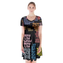 Panic At The Disco Northern Downpour Lyrics Metrolyrics Short Sleeve V-neck Flare Dress