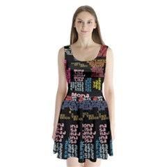 Panic At The Disco Northern Downpour Lyrics Metrolyrics Split Back Mini Dress