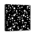 Black And White Starry Pattern Mini Canvas 6  x 6  View1