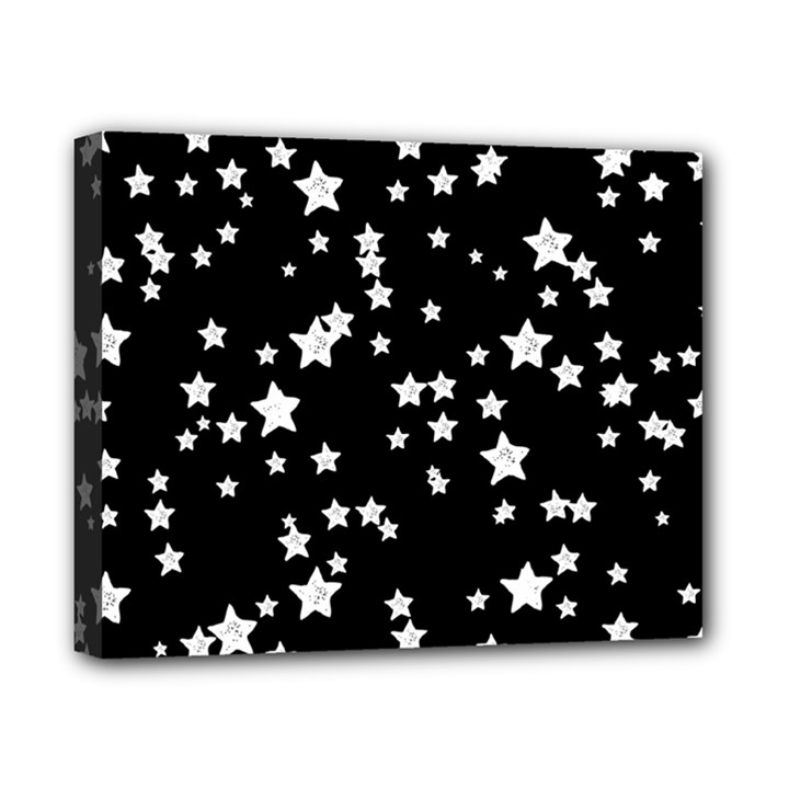 Black And White Starry Pattern Canvas 10  x 8