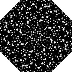 Black And White Starry Pattern Straight Umbrellas