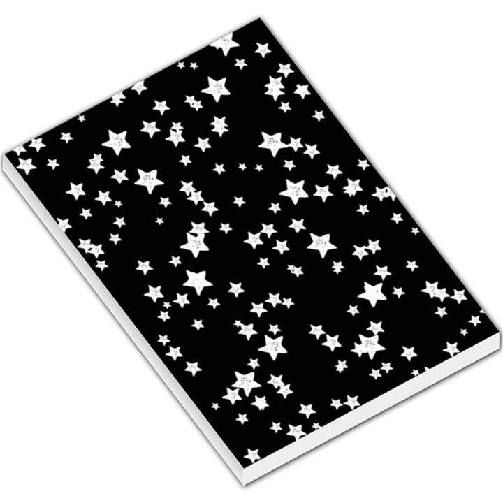 Black And White Starry Pattern Large Memo Pads