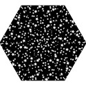 Black And White Starry Pattern Mini Folding Umbrellas View1