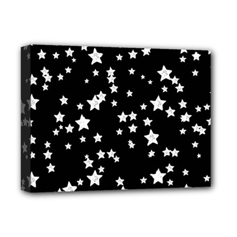 Black And White Starry Pattern Deluxe Canvas 16  x 12
