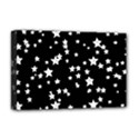 Black And White Starry Pattern Deluxe Canvas 18  x 12   View1