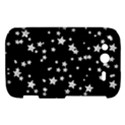 Black And White Starry Pattern HTC Wildfire S A510e Hardshell Case View1