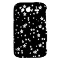 Black And White Starry Pattern HTC Wildfire S A510e Hardshell Case View2