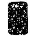Black And White Starry Pattern HTC Wildfire S A510e Hardshell Case View3
