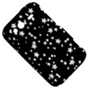 Black And White Starry Pattern HTC Wildfire S A510e Hardshell Case View5
