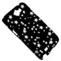 Black And White Starry Pattern Samsung Galaxy Note 2 Hardshell Case View5