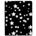 Black And White Starry Pattern Apple iPad 2 Flip Case View1