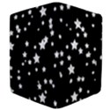 Black And White Starry Pattern Apple iPad 2 Flip Case View4
