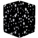 Black And White Starry Pattern Apple iPad Mini Flip Case View4