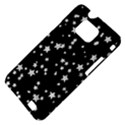 Black And White Starry Pattern Samsung Galaxy S II i9100 Hardshell Case (PC+Silicone) View4