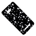 Black And White Starry Pattern HTC One SU T528W Hardshell Case View5