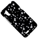 Black And White Starry Pattern HTC Desire VT (T328T) Hardshell Case View5