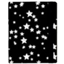 Black And White Starry Pattern Samsung Galaxy Tab 10.1  P7500 Flip Case View3