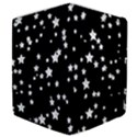 Black And White Starry Pattern Samsung Galaxy Tab 10.1  P7500 Flip Case View4