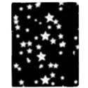 Black And White Starry Pattern Samsung Galaxy Tab 8.9  P7300 Flip Case View2