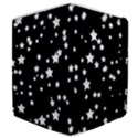 Black And White Starry Pattern Samsung Galaxy Tab 8.9  P7300 Flip Case View4