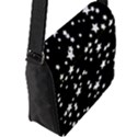 Black And White Starry Pattern Flap Messenger Bag (L)  View2