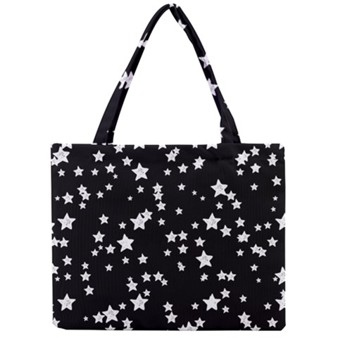 Black And White Starry Pattern Mini Tote Bag