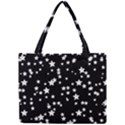Black And White Starry Pattern Mini Tote Bag View1