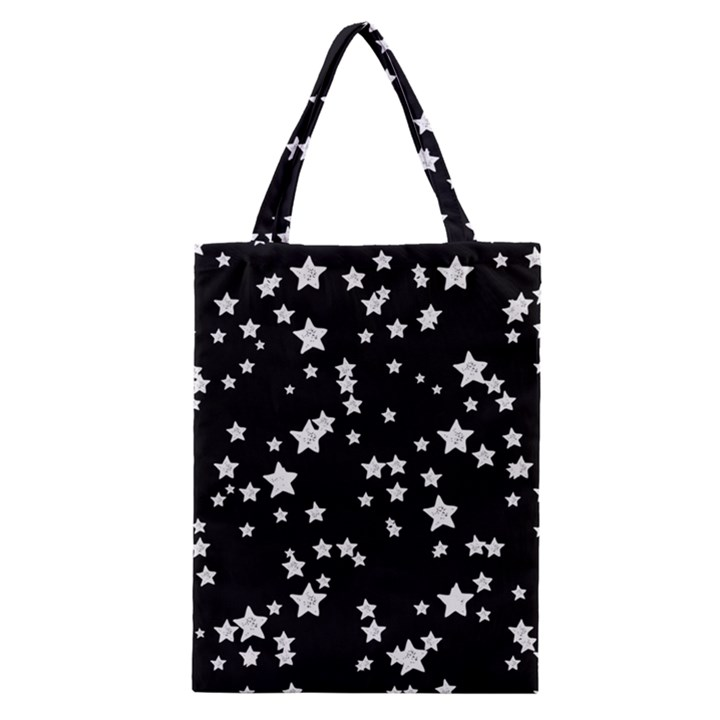 Black And White Starry Pattern Classic Tote Bag