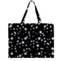 Black And White Starry Pattern Zipper Mini Tote Bag View2