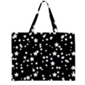 Black And White Starry Pattern Large Tote Bag View2