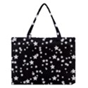 Black And White Starry Pattern Medium Tote Bag View1