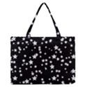 Black And White Starry Pattern Medium Zipper Tote Bag View1