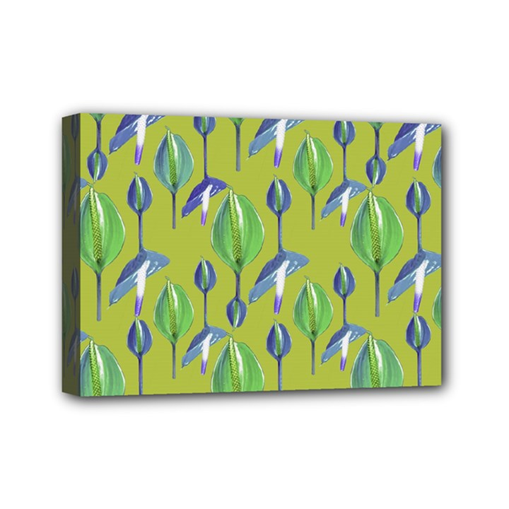 Tropical Floral Pattern Mini Canvas 7  x 5