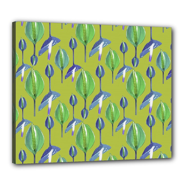 Tropical Floral Pattern Canvas 24  x 20