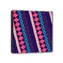 Purple And Pink Retro Geometric Pattern Mini Canvas 4  x 4  View1