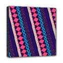 Purple And Pink Retro Geometric Pattern Mini Canvas 8  x 8  View1