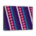 Purple And Pink Retro Geometric Pattern Canvas 10  x 8  View1