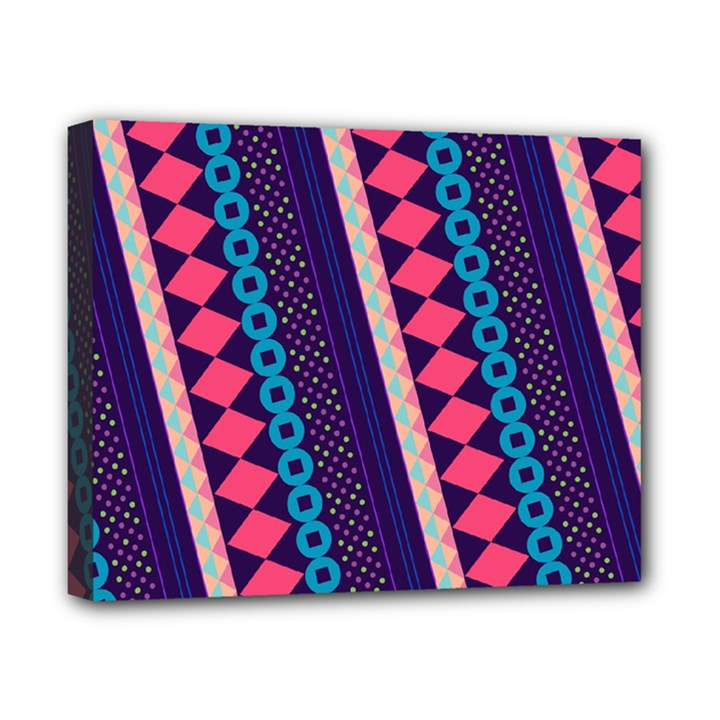 Purple And Pink Retro Geometric Pattern Canvas 10  x 8