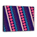 Purple And Pink Retro Geometric Pattern Canvas 14  x 11  View1