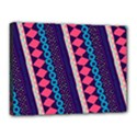 Purple And Pink Retro Geometric Pattern Canvas 16  x 12  View1