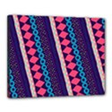 Purple And Pink Retro Geometric Pattern Canvas 20  x 16  View1