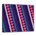 Purple And Pink Retro Geometric Pattern Canvas 24  x 20  View1