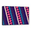 Purple And Pink Retro Geometric Pattern Canvas 18  x 12  View1