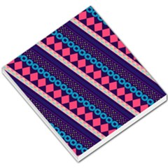 Purple And Pink Retro Geometric Pattern Small Memo Pads