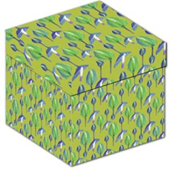 Tropical Floral Pattern Storage Stool 12
