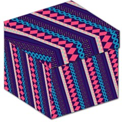 Purple And Pink Retro Geometric Pattern Storage Stool 12