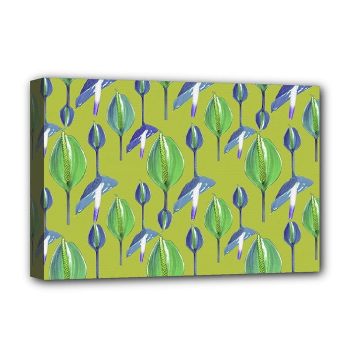 Tropical Floral Pattern Deluxe Canvas 18  x 12