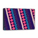 Purple And Pink Retro Geometric Pattern Deluxe Canvas 18  x 12   View1