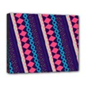 Purple And Pink Retro Geometric Pattern Deluxe Canvas 20  x 16   View1