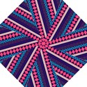 Purple And Pink Retro Geometric Pattern Golf Umbrellas View1